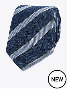 jeff-banks-jeff-banks-herringbone-stripe-silk-tie-blue