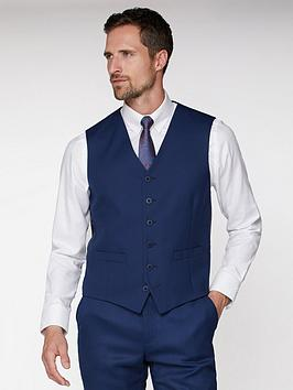 Jeff Banks Jeff Banks Textured Soho Waistcoat - Blue Picture