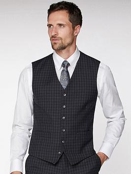 jeff-banks-jeff-banks-tonal-grid-texture-soho-waistcoat-in-modern-regular-fit-charcoal