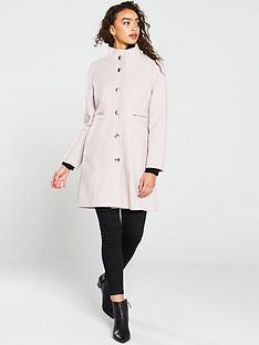 wallis-zip-waist-funnel-coat