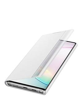 Samsung Samsung Samsung Galaxy Note 10+ Clear View Cover White Picture