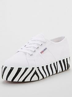 superga-superga-exclusive-2790-cot-chunky-sole-zebra-plimsoll