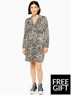 topshop-topshop-maternity-animal-shirt-dress-multi