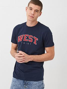 V by Very V By Very West Point Applique T-Shirt - Navy Picture
