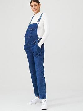 V by Very V By Very Maternity Denim Dungaree - Dark Wash Picture