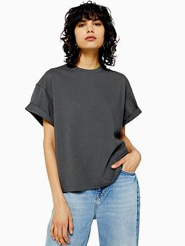 topshop-topshop-boxy-roll-sleeve-t-shirt-charcoal