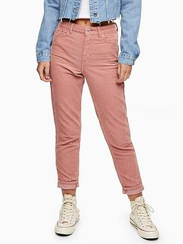 Topshop Topshop Corduroy Mom Jeans - Blush Picture