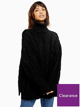topshop-chunky-cable-knit-roll-neck-jumper-black