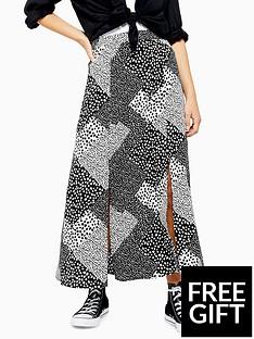 topshop-topshop-petite-spot-maxi-skirt-monochrome