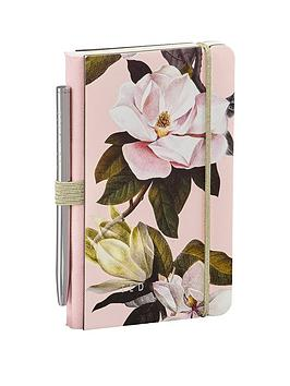 Ted Baker Ted Baker Ted Baker Ladies Mini Notebook & Pen - Pink Picture