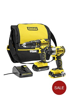 black-decker-stanley-fatmax-18v-twin-pack-brushless-impact-combi