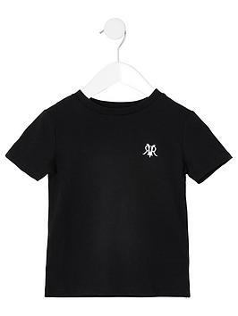 river-island-mini-mini-boys-ri-embroidered-t-shirt-black