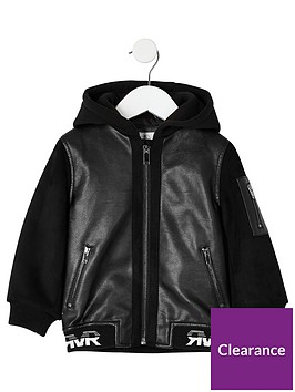 river-island-mini-mini-boys-faux-leather-bomber-jacket