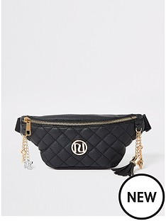 river-island-girls-quilted-belted-bumbag-black