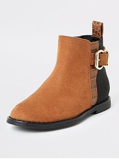 river-island-mini-mini-girls-buckle-ankle-boots-tan