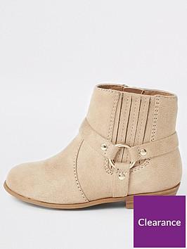 river-island-mini-mini-girls-western-ankle-boots-beige