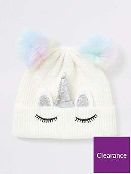 river-island-girls-unicorn-faux-fur-pom-pom-hat--white