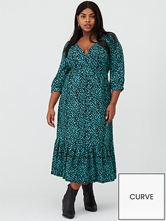 v-by-very-curve-dalmatian-print-midaxi-dress-teal