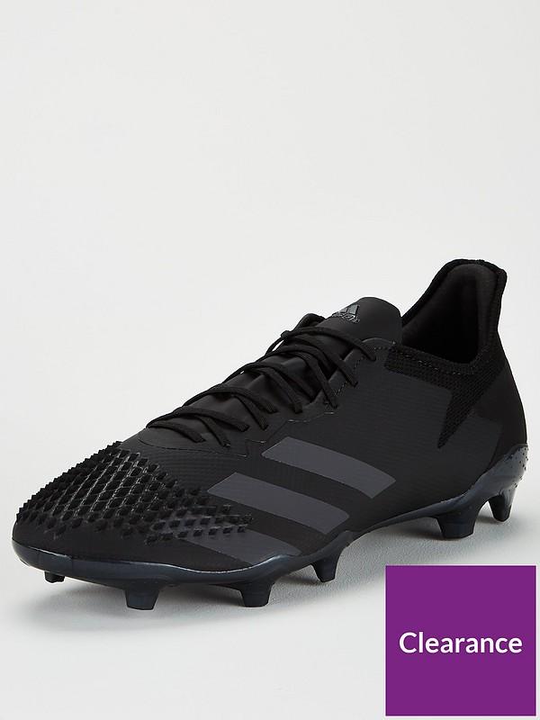 Predator 20.2 Firm Ground Football Boot Black