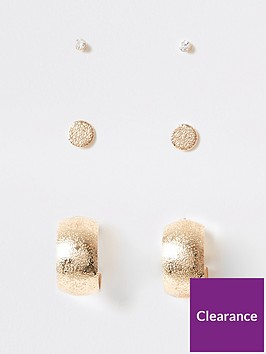 river-island-hoop-earring-pack-gold