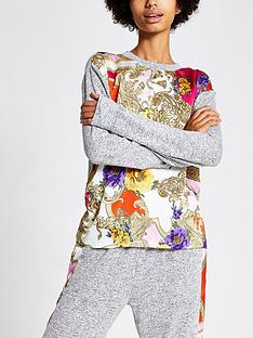 river-island-river-island-woven-and-jersey-mix-lounge-top-grey