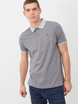 V by Very V By Very Marl Collar Jersey Polo Shirt - Grey Picture