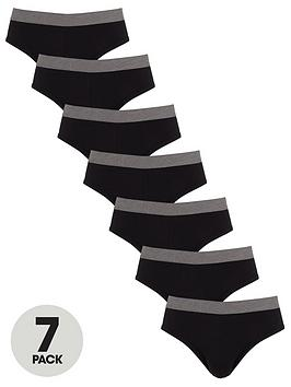 V by Very V By Very 7 Pack Brief - Black Picture