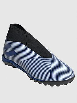 Adidas Adidas Nemeziz Laceless 19.3 Astro Turf Football Boots - Blue/White Picture