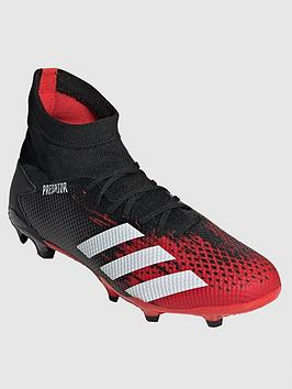 Adidas Adidas Predator 19.3 Firm Ground Football Boot - Red/Black Picture