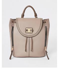 river-island-drawstring-backpack-beige