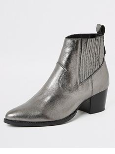 river-island-river-island-leather-western-ankle-boot-silver