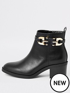 river-island-buckle-ankle-boot-black