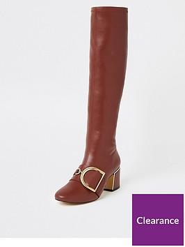 river-island-river-island-buckle-detail-knee-high-boot-dark-red