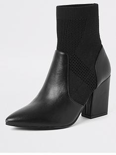 river-island-knitted-sock-boot-black