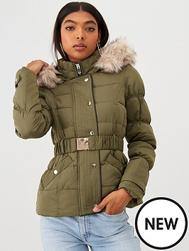 river-island-river-island-quilted-sleeve-padded-jacket--khaki