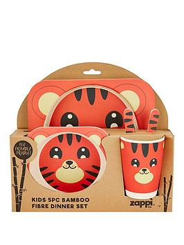 tiger-bamboo-fibre-5-pc-dinner-set