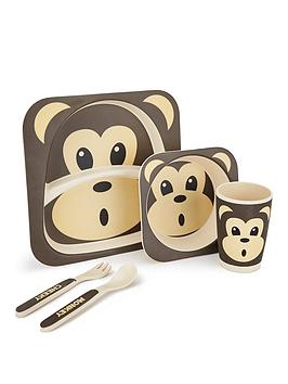 Very Monkey Bamboo Fibre 5 Pc Dinner Set Picture
