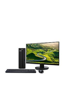 Acer   Xc-330 Amd A4, 4Gb Ram, 1Tb Hard Drive Desktop (Black) With 21.5 Inch K222 Monitor And Optional Microsoft 365 Family - 1 Year - Desktop With Monitor