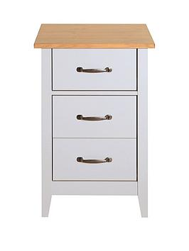 Very Norfolk 3 Drawer Bedside Chest Picture