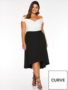 quiz-curve-bardot-knot-wrap-dress