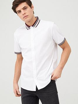 V by Very V By Very Knitted Mono Baseball Shirt - White Picture