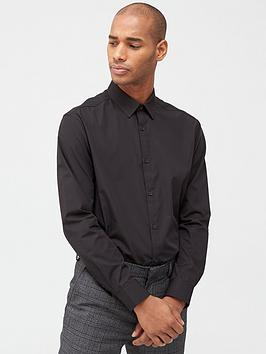 V by Very V By Very Two Pack Long Sleeved Easycare Shirts - Black Picture