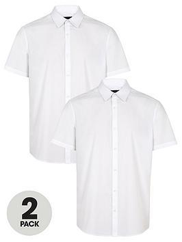 very-man-2-packnbspshort-sleeved-easycare-shirts-white