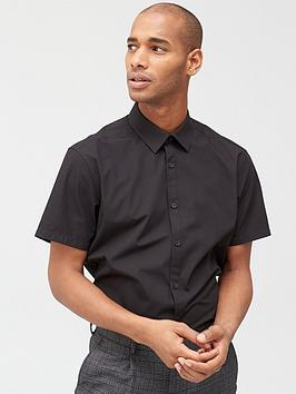 V by Very V By Very Two Pack Short Sleeved Easycare Shirts - Black Picture