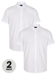 very-man-2-pack-short-sleeved-button-down-oxford-shirt-white