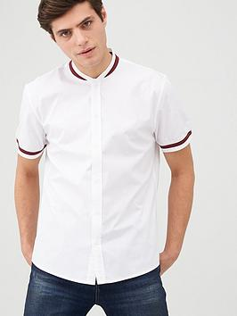 V by Very V By Very Knitted Red Collar Shirt - White Picture