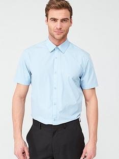 v-by-very-short-sleeved-easycare-shirt-blue