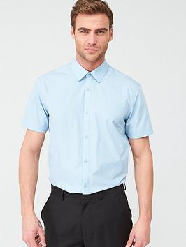 very-man-short-sleeved-easycare-shirt-blue