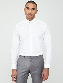 V by Very V By Very Long Sleeved Button Down Oxford Shirt - White Picture