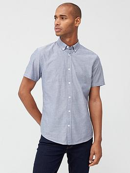 V by Very V By Very Short Sleeved Button Down Oxford Shirt - Chambray Picture